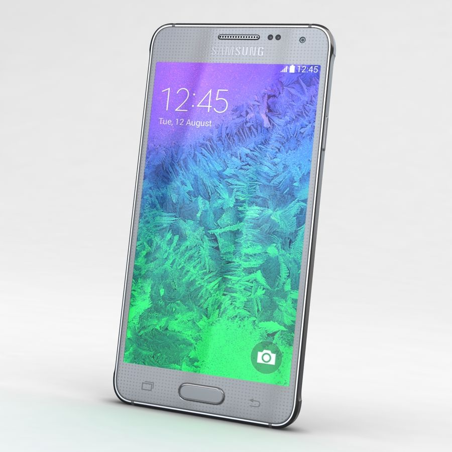 Samsung Galaxy Alpha Prata Elegante royalty-free 3d model - Preview no. 1