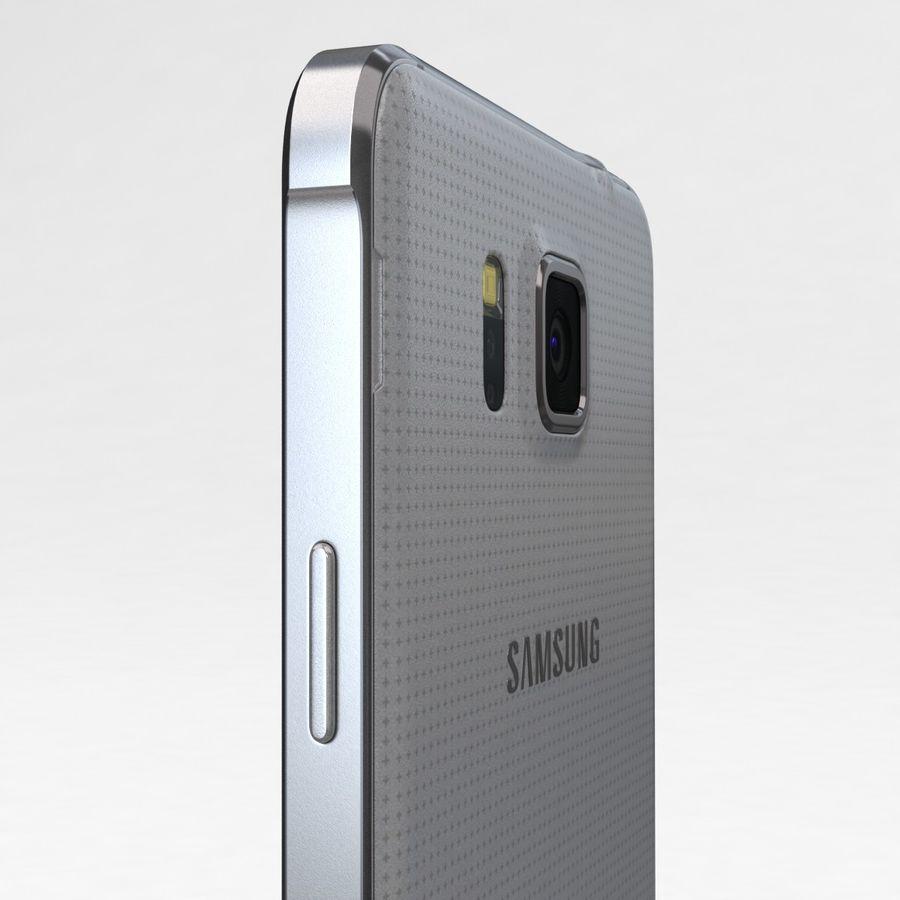 Samsung Galaxy Alpha Prata Elegante royalty-free 3d model - Preview no. 16