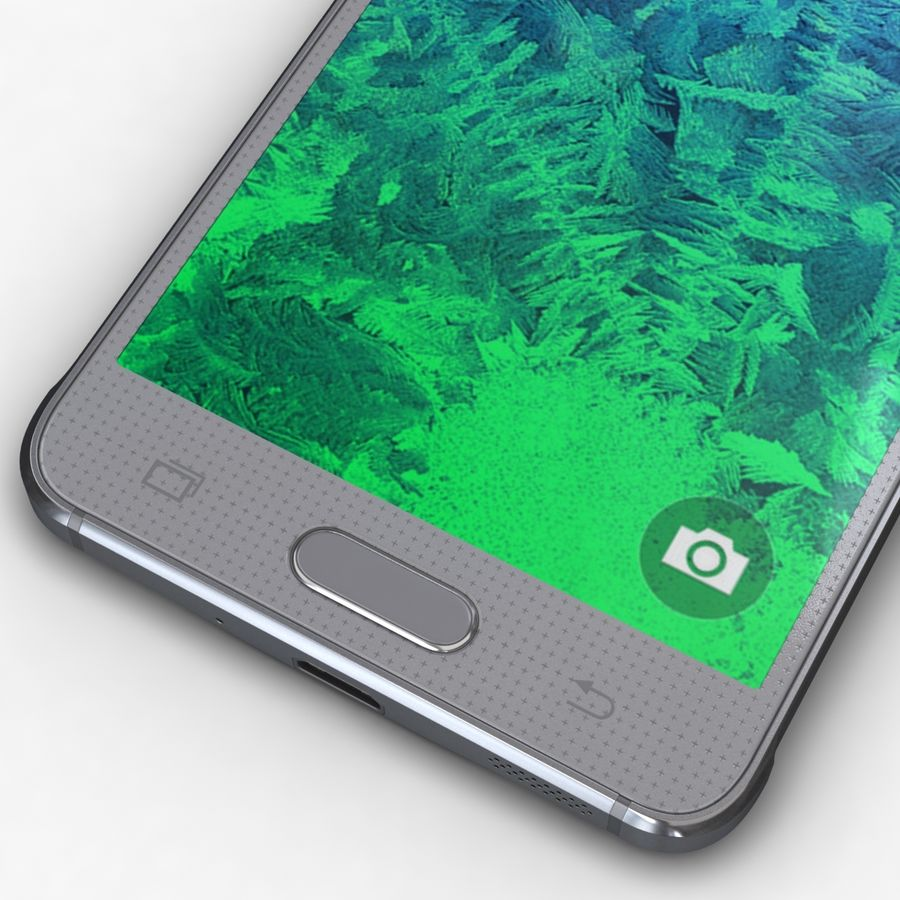 Samsung Galaxy Alpha Prata Elegante royalty-free 3d model - Preview no. 9