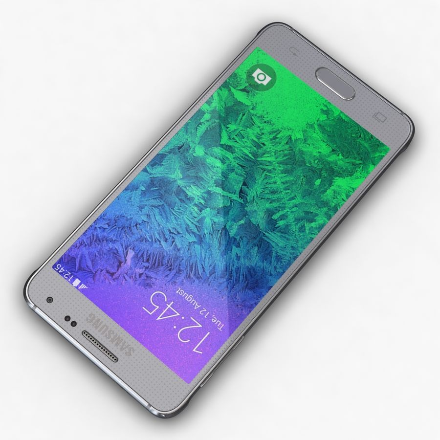 Samsung Galaxy Alpha Prata Elegante royalty-free 3d model - Preview no. 7
