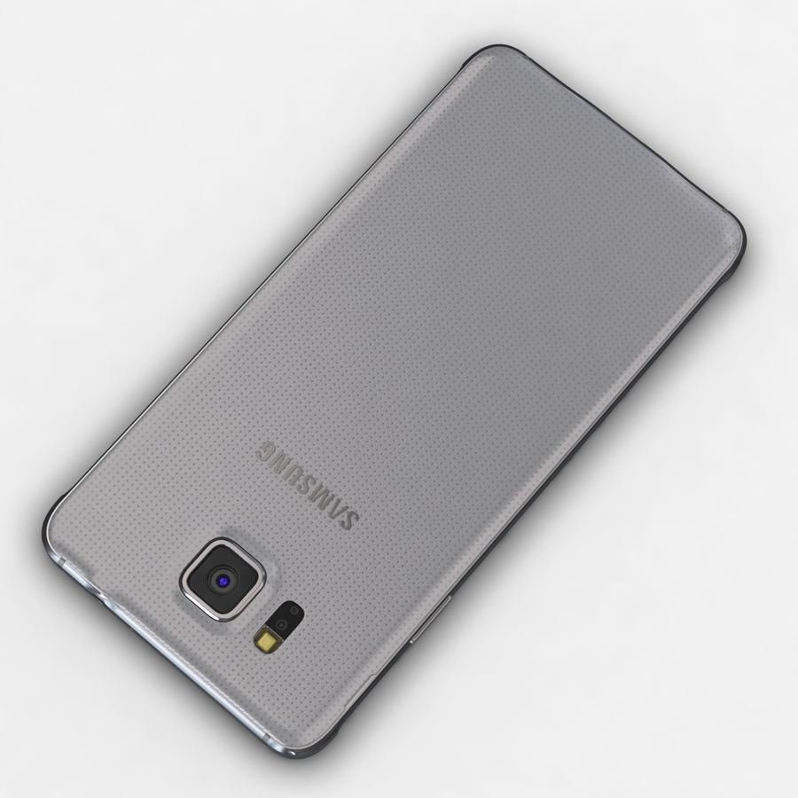Samsung Galaxy Alpha Prata Elegante royalty-free 3d model - Preview no. 11