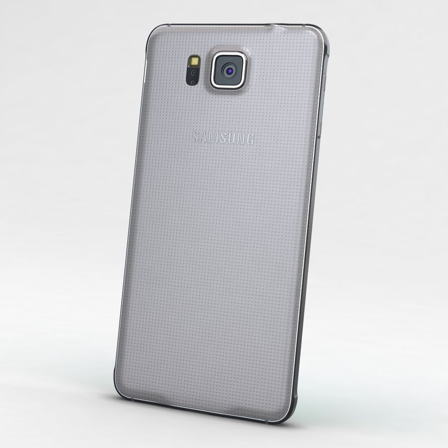 Samsung Galaxy Alpha Prata Elegante royalty-free 3d model - Preview no. 5