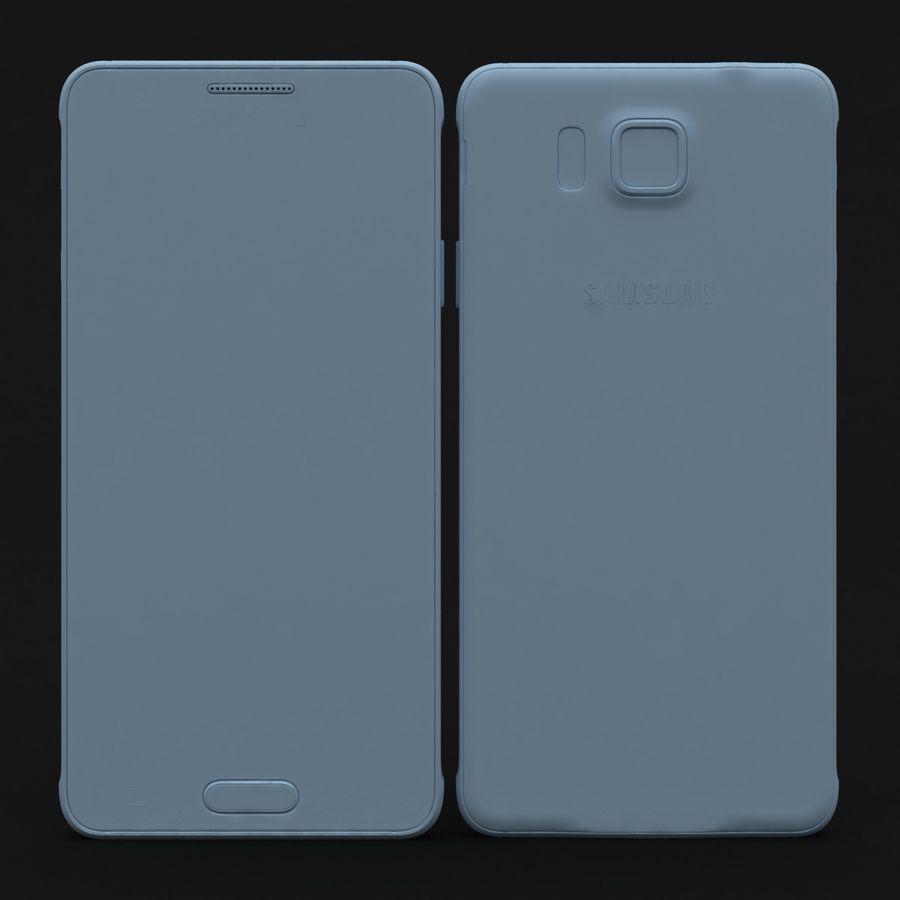 Samsung Galaxy Alpha Prata Elegante royalty-free 3d model - Preview no. 25
