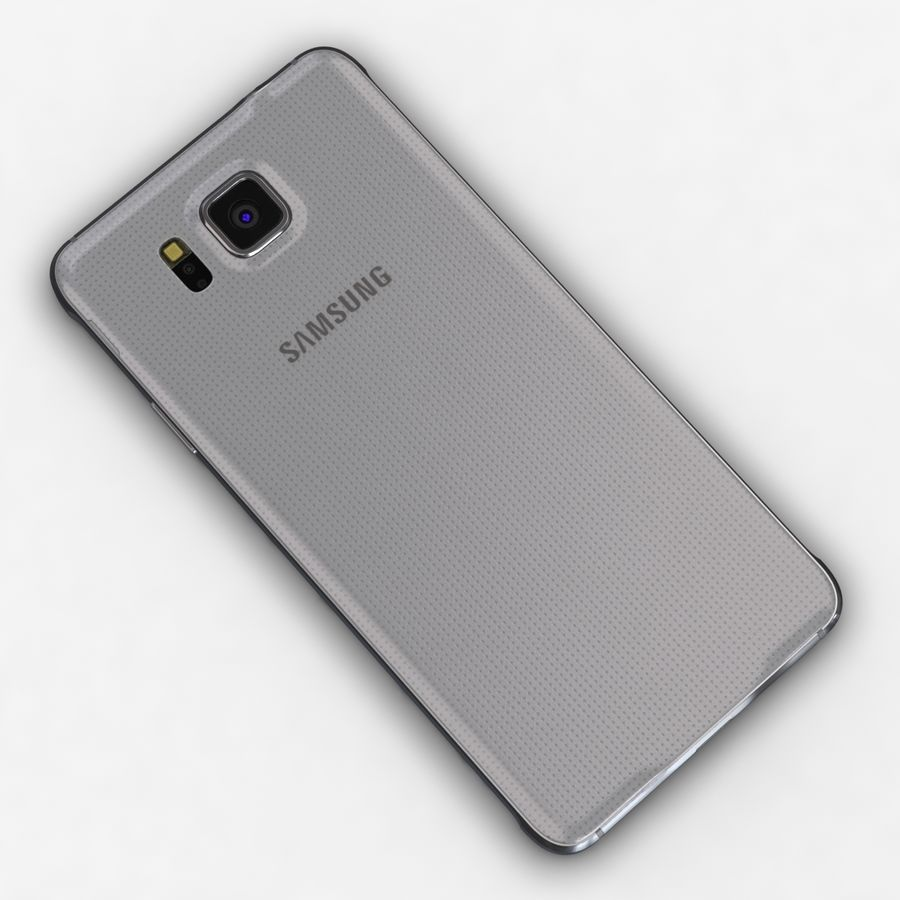Samsung Galaxy Alpha Prata Elegante royalty-free 3d model - Preview no. 12