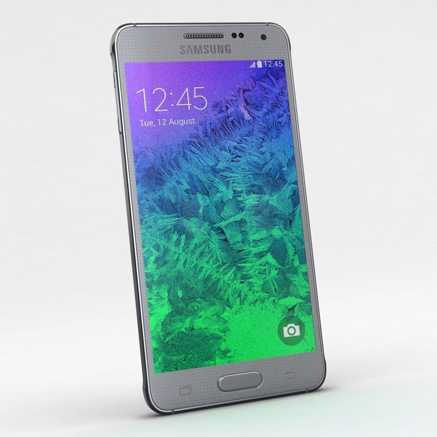 Samsung Galaxy Alpha Prata Elegante royalty-free 3d model - Preview no. 2