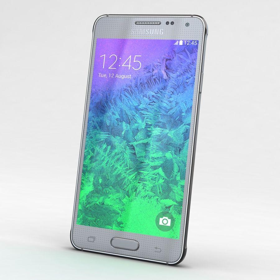Samsung Galaxy Alpha Prata Elegante royalty-free 3d model - Preview no. 3