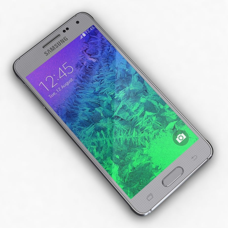 Samsung Galaxy Alpha Prata Elegante royalty-free 3d model - Preview no. 8