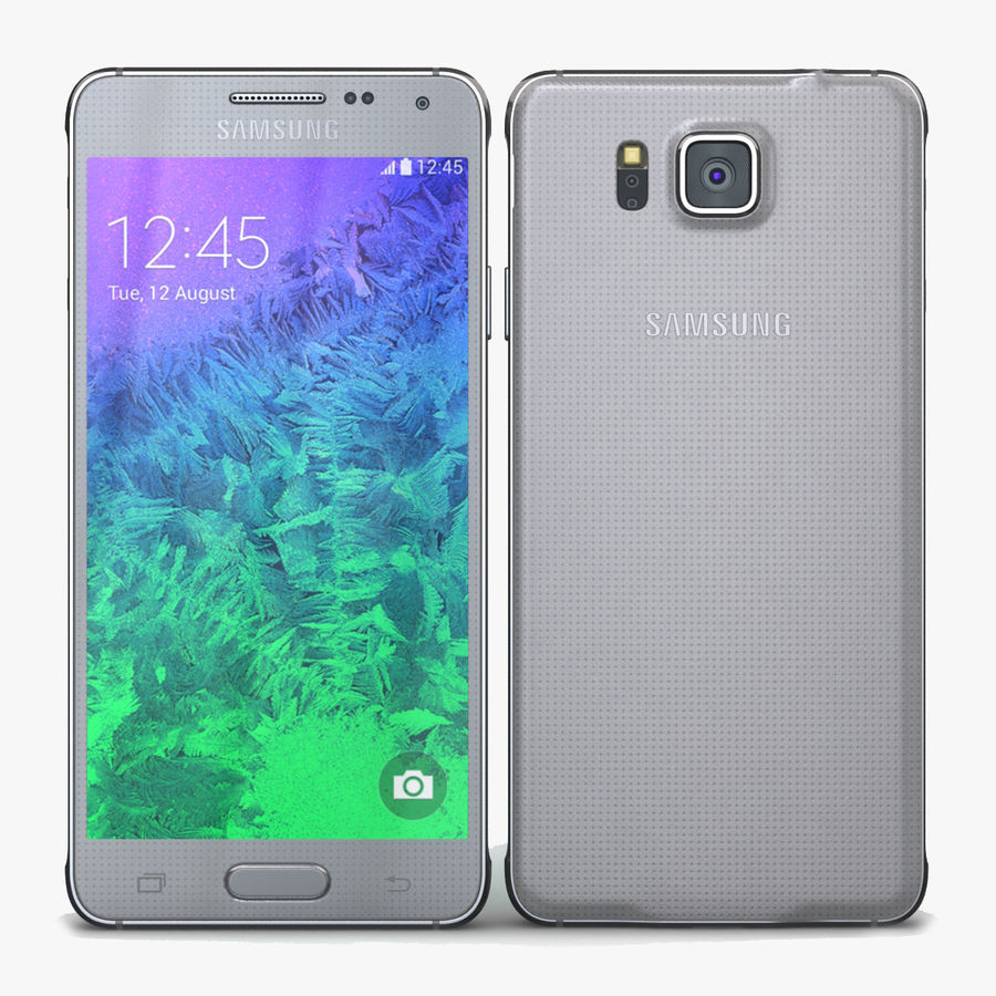 Samsung Galaxy Alpha Prata Elegante royalty-free 3d model - Preview no. 1