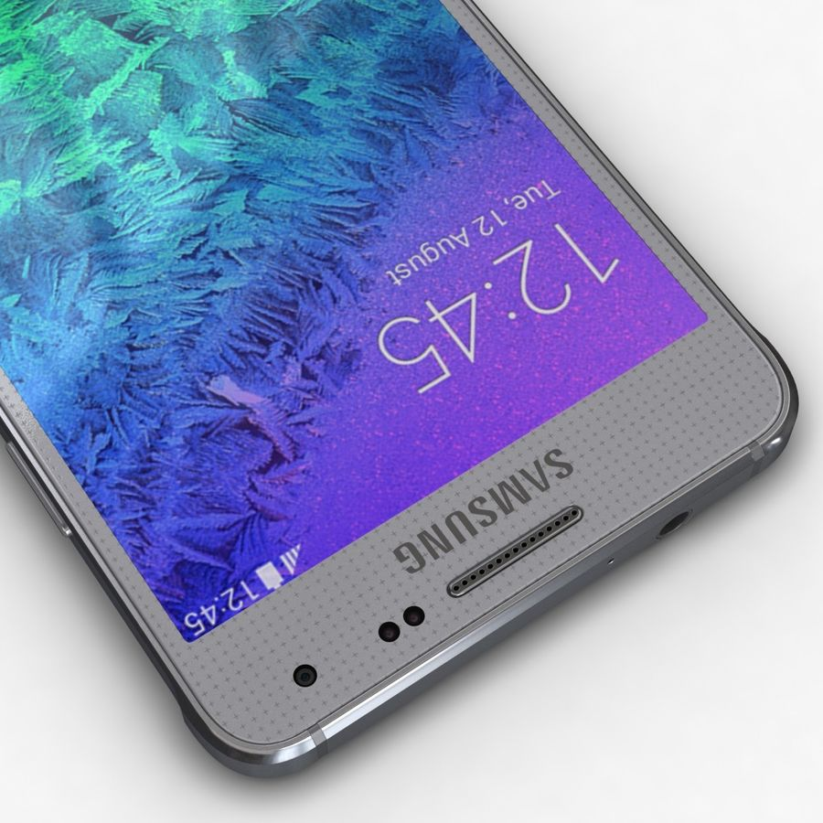 Samsung Galaxy Alpha Prata Elegante royalty-free 3d model - Preview no. 10
