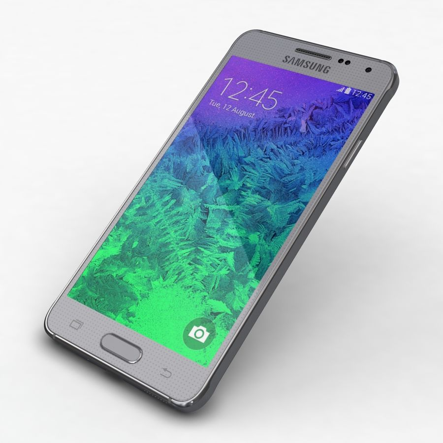 Samsung Galaxy Alpha Prata Elegante royalty-free 3d model - Preview no. 20