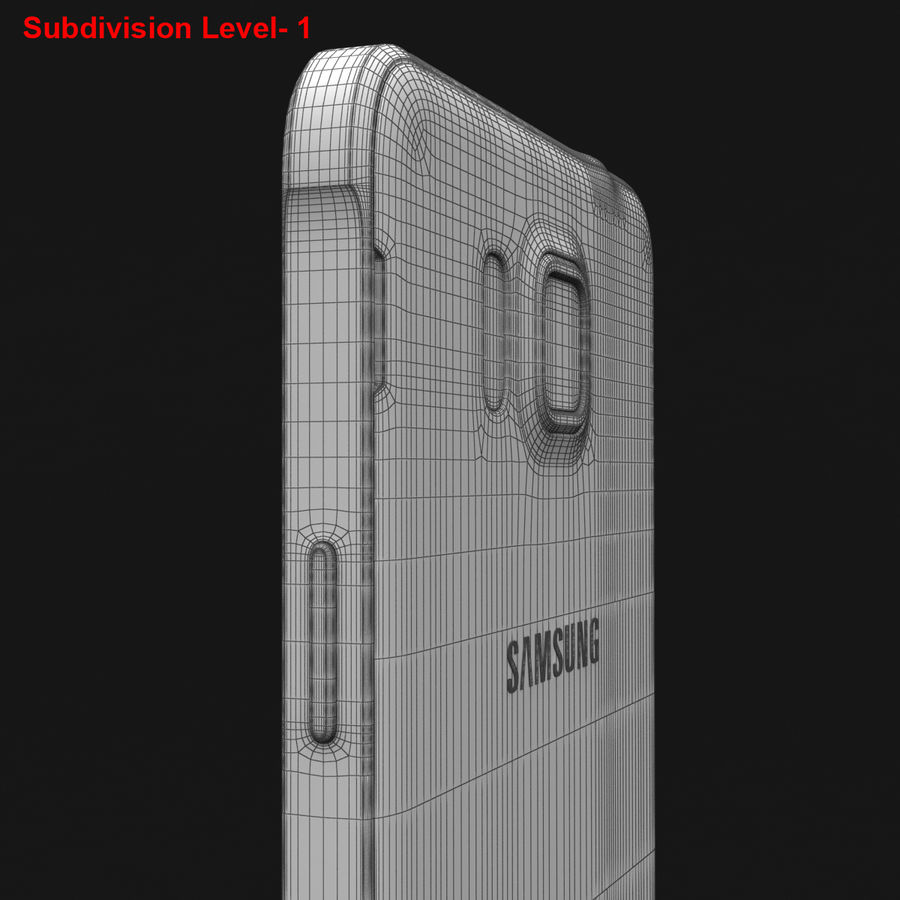 Samsung Galaxy Alpha Prata Elegante royalty-free 3d model - Preview no. 30