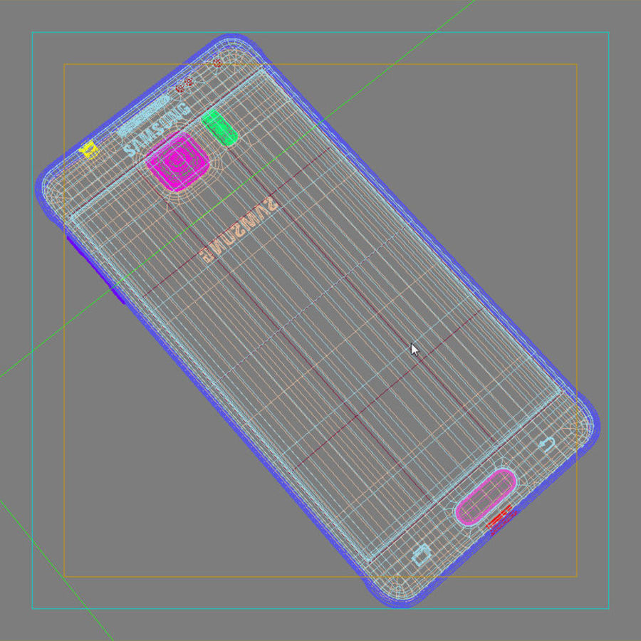 Samsung Galaxy Alpha Prata Elegante royalty-free 3d model - Preview no. 42