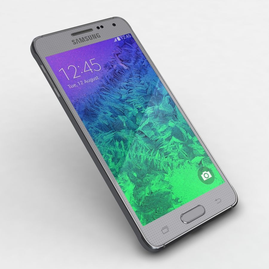Samsung Galaxy Alpha Prata Elegante royalty-free 3d model - Preview no. 19