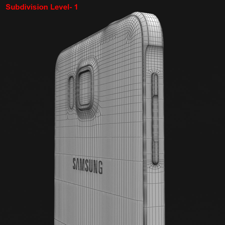 Samsung Galaxy Alpha Prata Elegante royalty-free 3d model - Preview no. 32