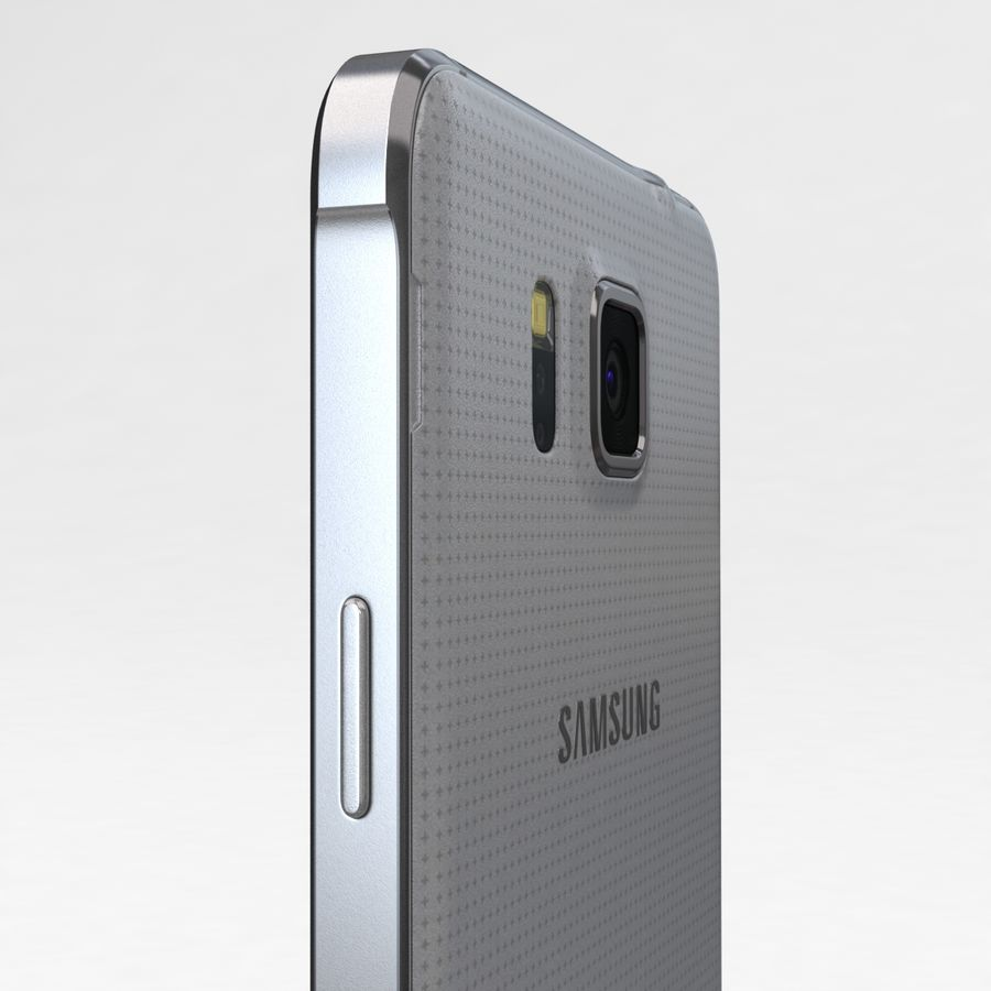 Samsung Galaxy Alpha Prata Elegante royalty-free 3d model - Preview no. 16