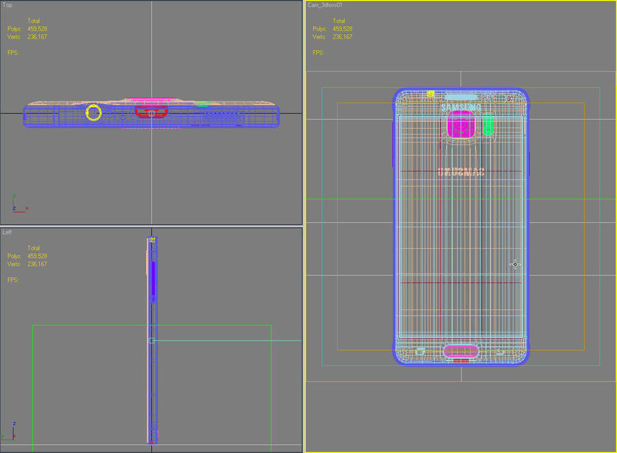 Samsung Galaxy Alpha Prata Elegante royalty-free 3d model - Preview no. 43