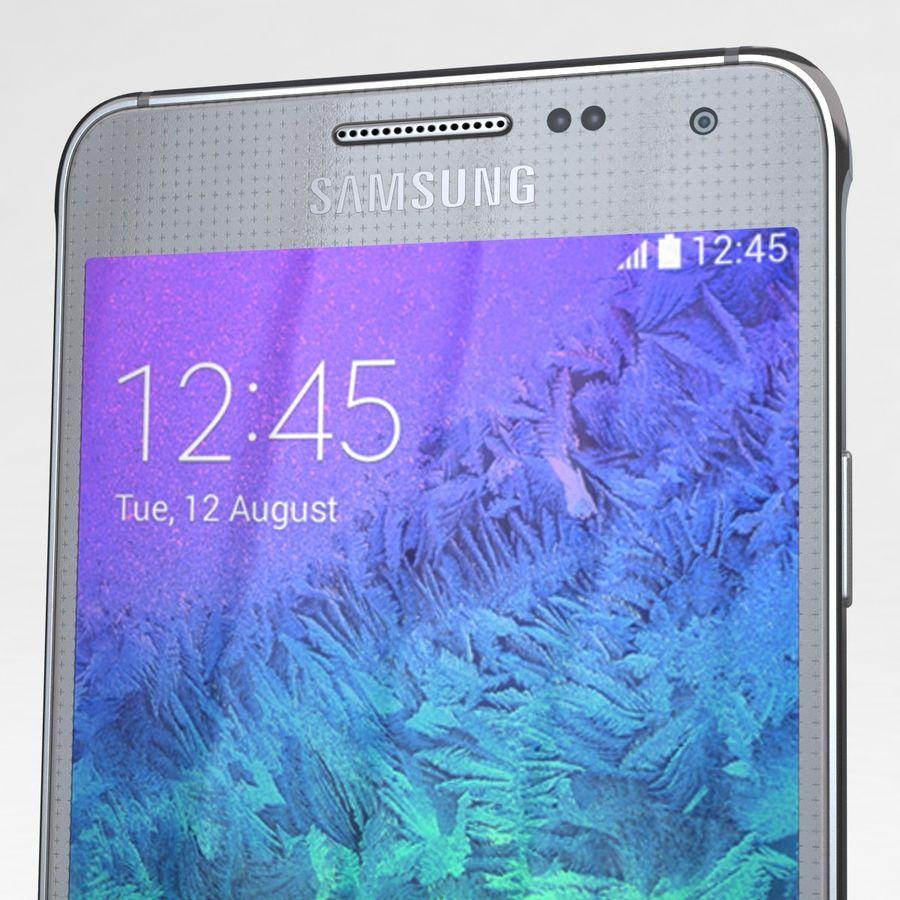 Samsung Galaxy Alpha Prata Elegante royalty-free 3d model - Preview no. 23