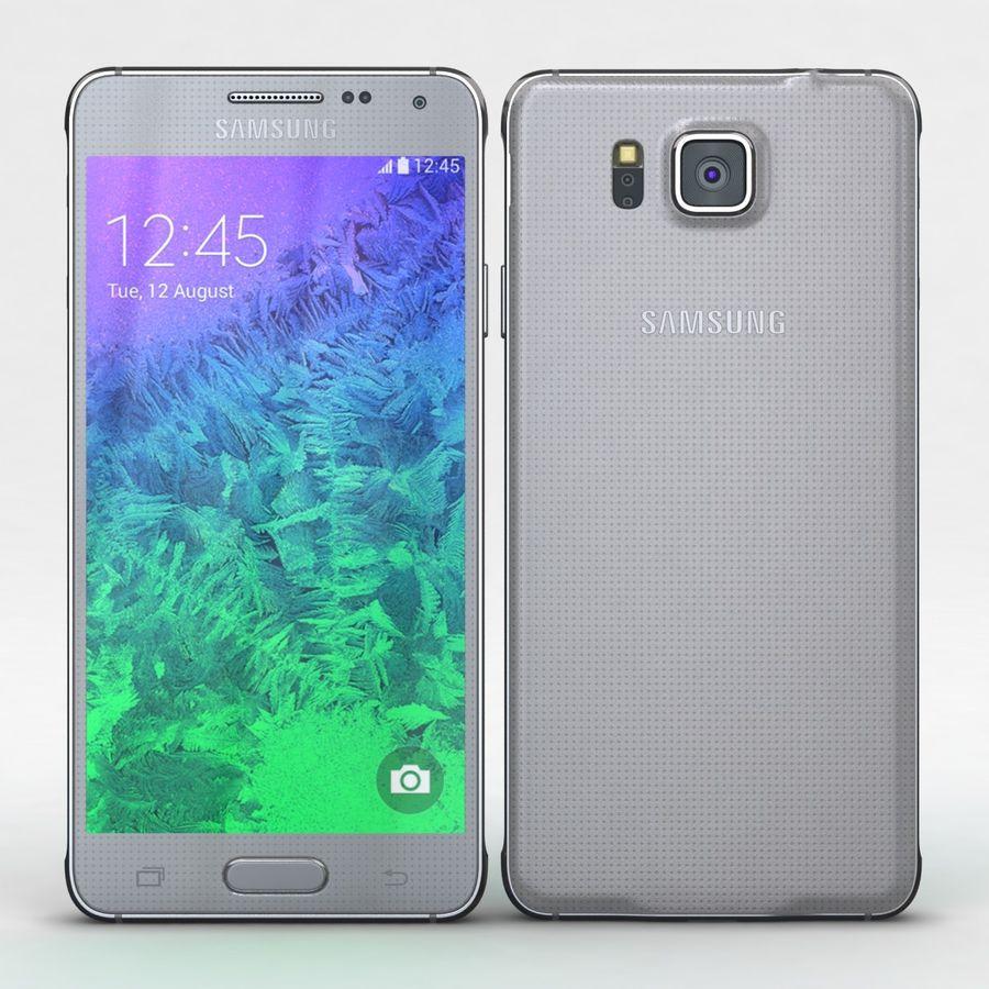 Samsung Galaxy Alpha Prata Elegante royalty-free 3d model - Preview no. 2