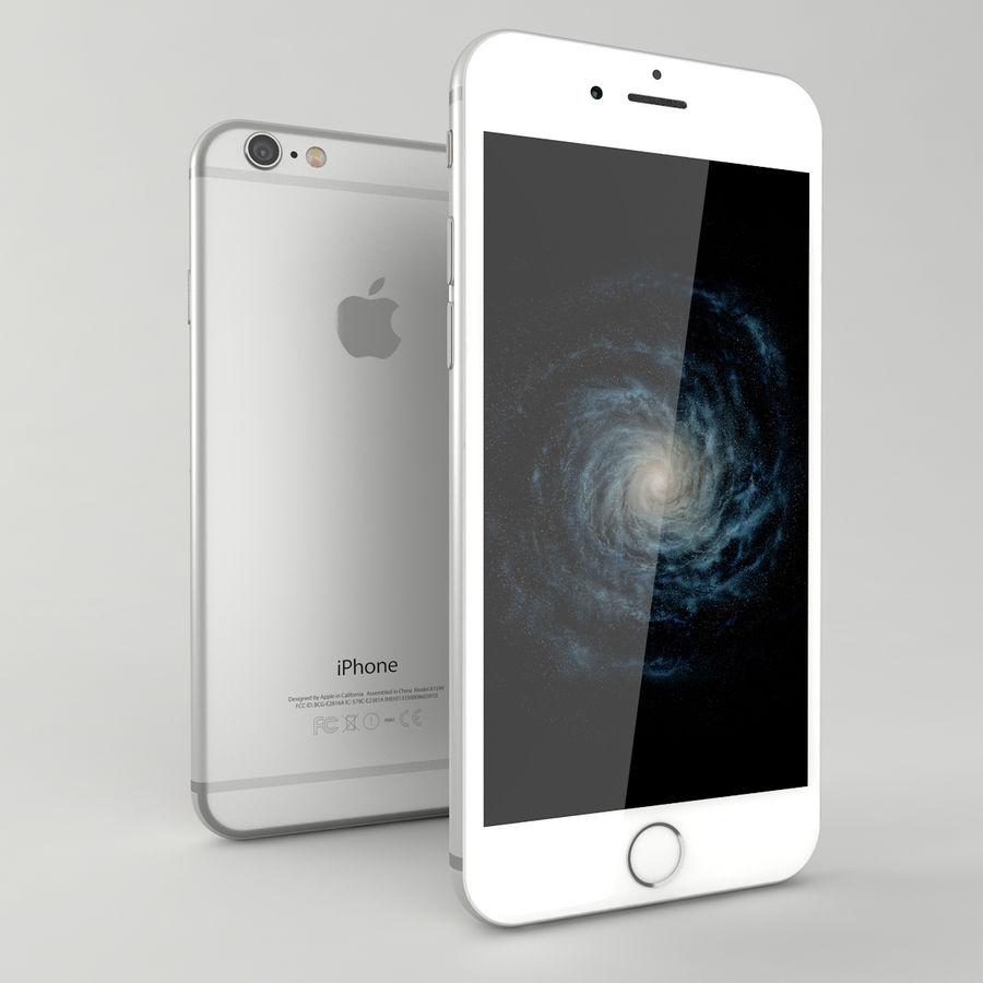 苹果Iphone 6银 royalty-free 3d model - Preview no. 2