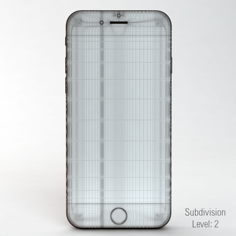 苹果Iphone 6银 royalty-free 3d model - Preview no. 17