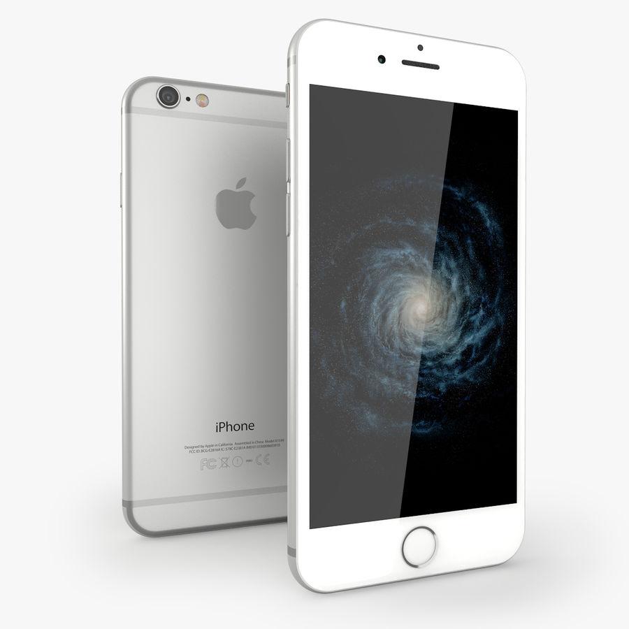 苹果Iphone 6银 royalty-free 3d model - Preview no. 1