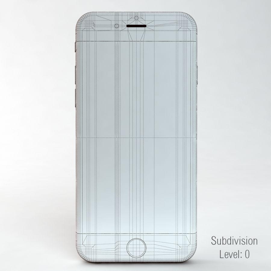 苹果Iphone 6银 royalty-free 3d model - Preview no. 4