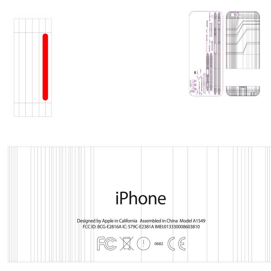 苹果Iphone 6银 royalty-free 3d model - Preview no. 3