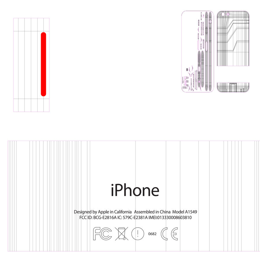 苹果Iphone 6银 royalty-free 3d model - Preview no. 15