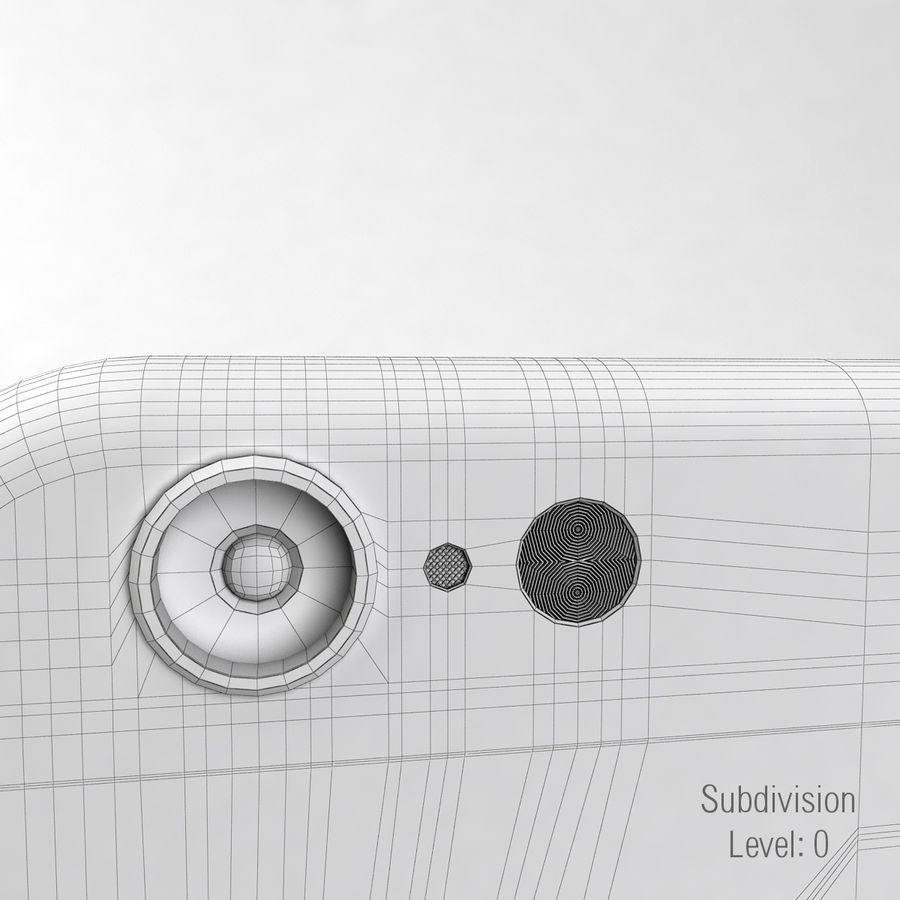 苹果Iphone 6银 royalty-free 3d model - Preview no. 12