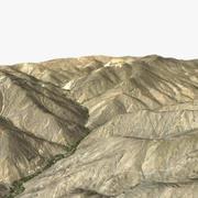 カブール近くのアフガニスタン地形 3d model