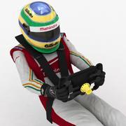Formula E Driver Sat 3d model