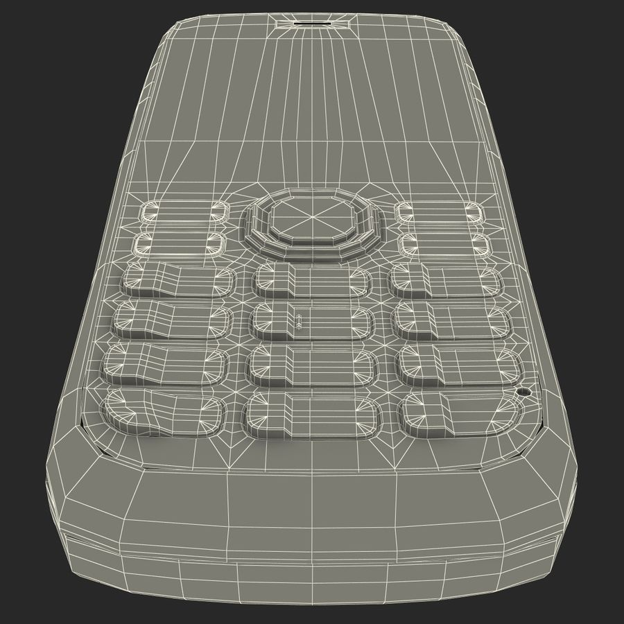 Nokia 112 Gray royalty-free 3d model - Preview no. 21