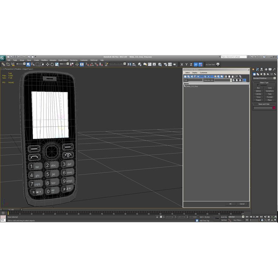 Nokia 112 Gray royalty-free 3d model - Preview no. 25