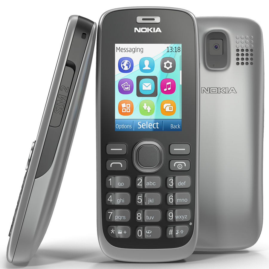 Nokia 112 Gray royalty-free 3d model - Preview no. 2