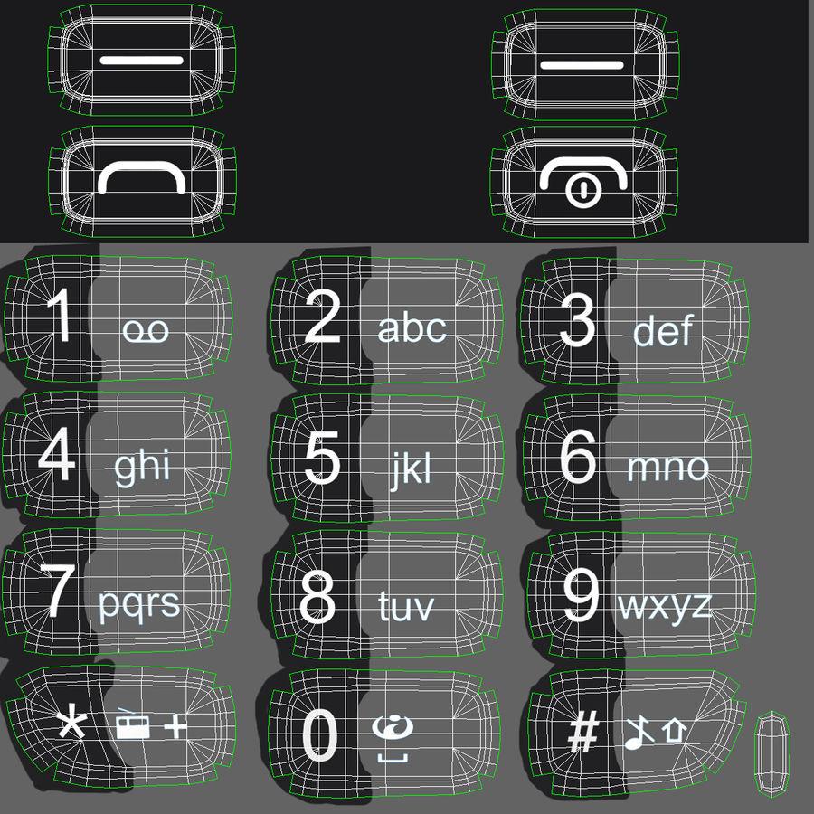 Nokia 112 Gray royalty-free 3d model - Preview no. 23
