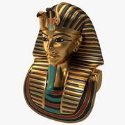 Gold Death Mask Of Tutankhamun 3d model