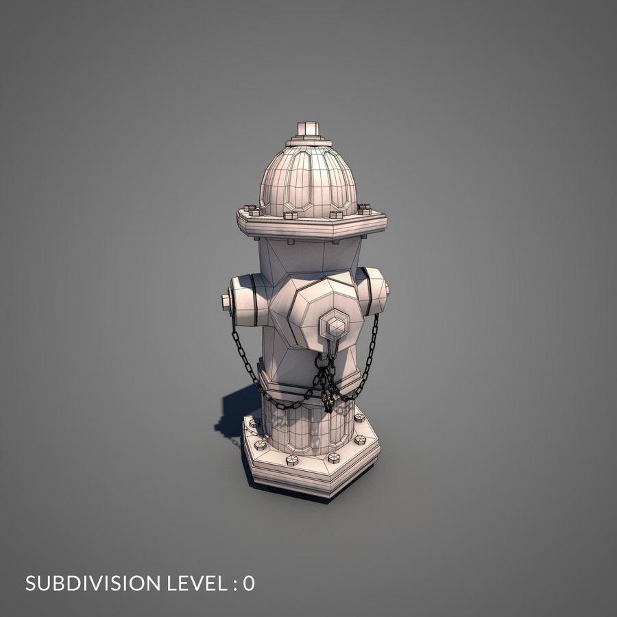 Пожарный кран royalty-free 3d model - Preview no. 10