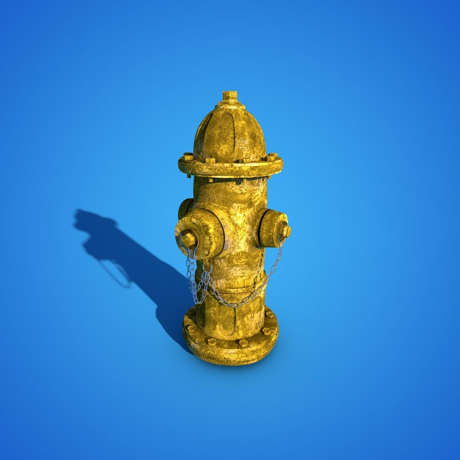 Пожарный кран royalty-free 3d model - Preview no. 8