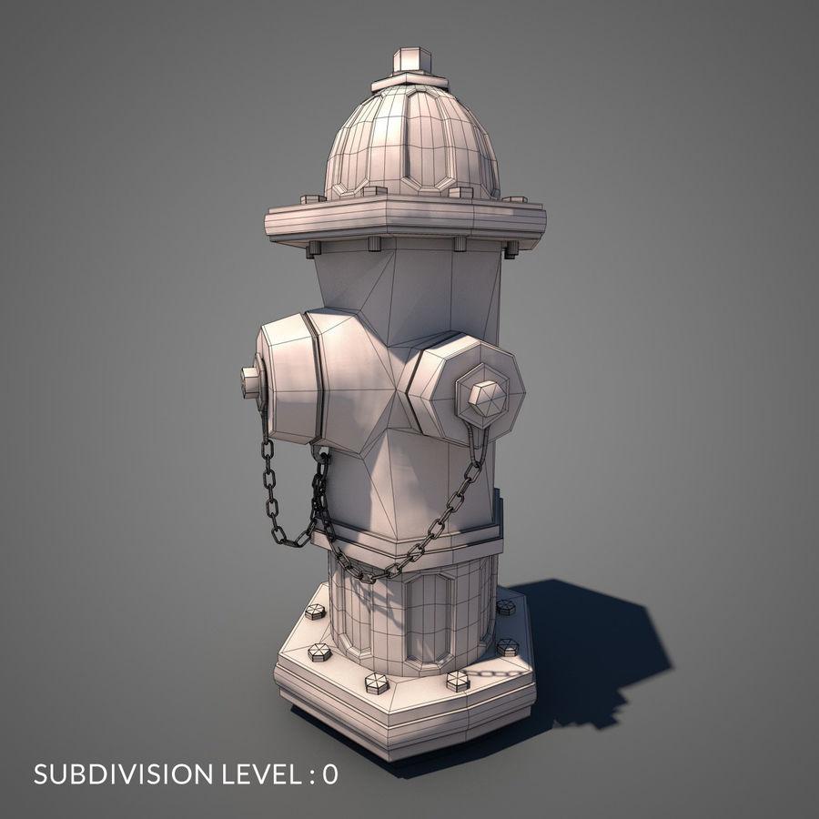 Пожарный кран royalty-free 3d model - Preview no. 11