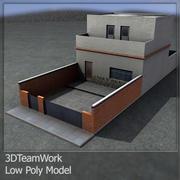 Bâtiment Low Poly 001 3d model