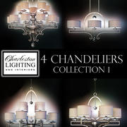 Charleston lighting and interiors 4 chandeliers/Col.1 3d model