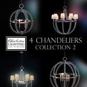 Charleston lighting and interiors 4 chandeliers/Col.2 3d model