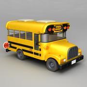 학교 버스 3d model