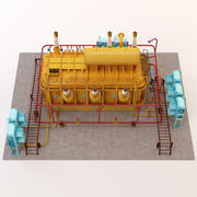 Energía eléctrica modelo 3d