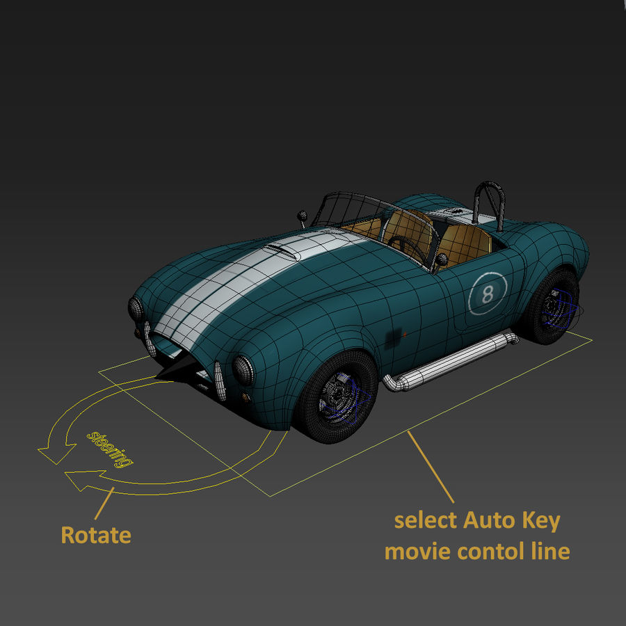 Samochód sportowy royalty-free 3d model - Preview no. 5