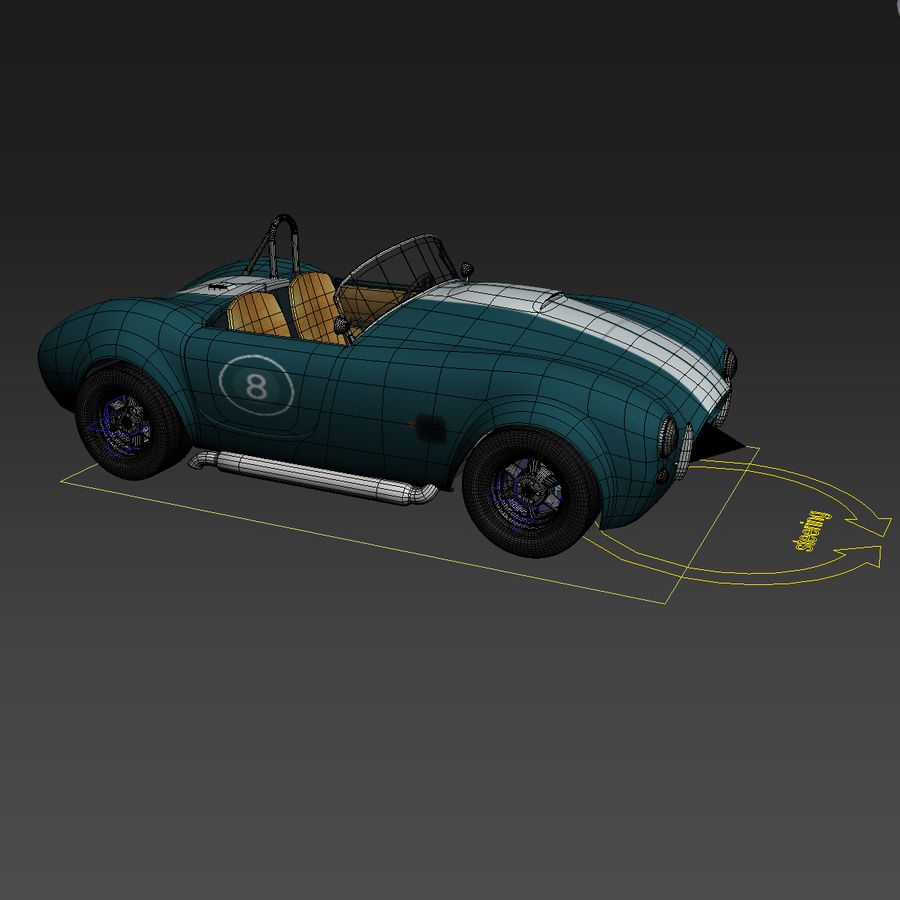 Samochód sportowy royalty-free 3d model - Preview no. 6