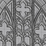 Ventana gótica arqueada modelo 3d