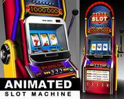 Animated Slot Machine 3d model