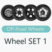 Off Road Wheels SET 3d model