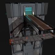 Parte de la pared de ciencia ficción modelo 3d